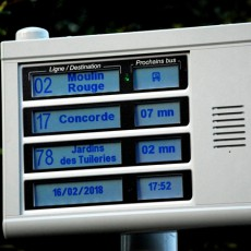 4 lines APICOM terminal - visual and audible information of travelers at bus stops
