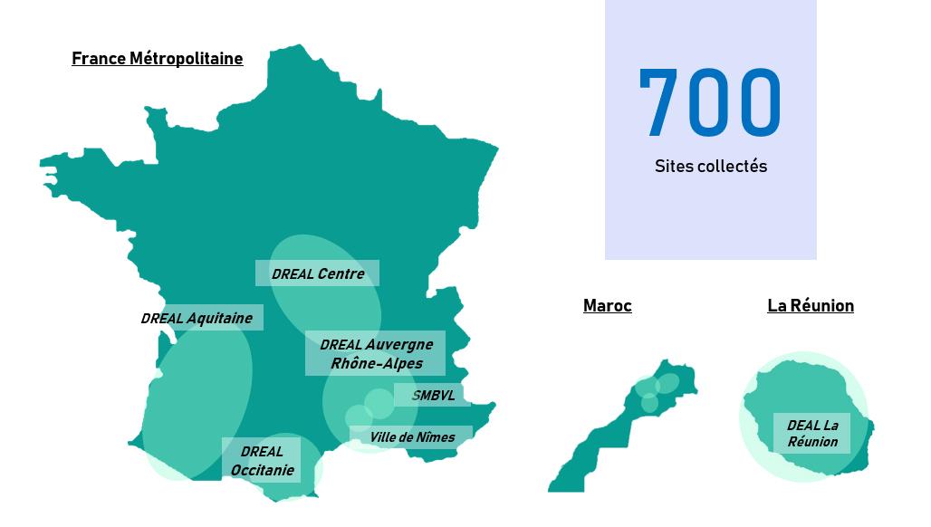 Infrastructures SCORPION déployées en France et à l'étranger - Réseau radio de collecte de données hydrométriques pour systèmes de prévisions des crues